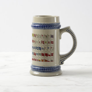 Naval Flags of the World Beer Stein