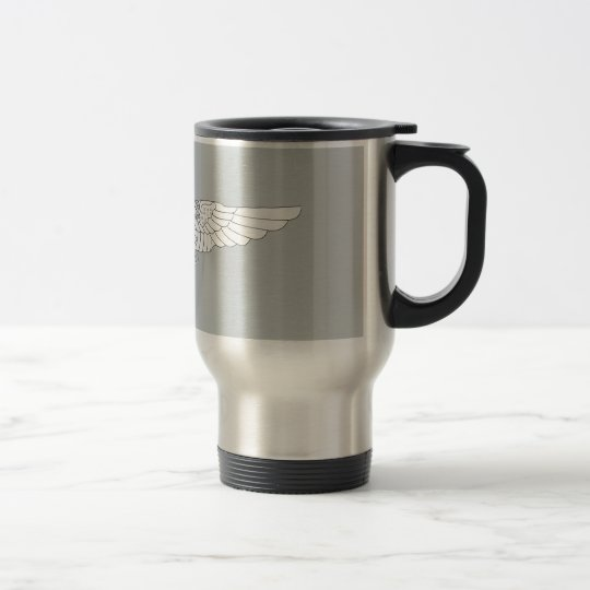 Naval Flight Officer Wings (NFO) - White Travel Mug