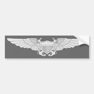 Naval Flight Officer Wings - Silver Bumper Stickers