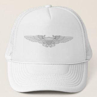 Naval Flight Officer Wings - Silver Trucker Hat