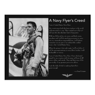Naval Flyer's Creed Postcard