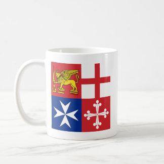 Naval Jack Italy, Italy Basic White Mug