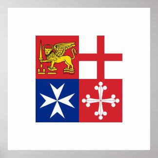 Naval Jack Italy Italy Print