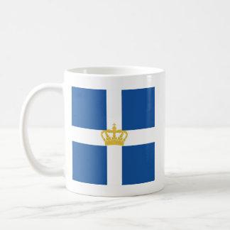 Naval Jack Kingdom Greece, Greece Basic White Mug