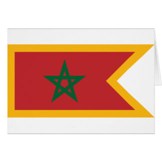 Naval Jack Morocco, Morocco Greeting Card
