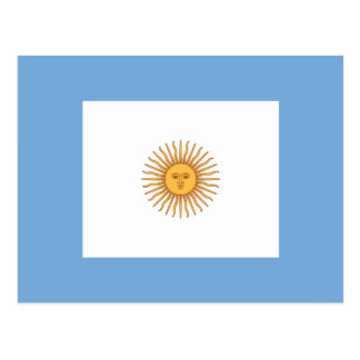 Naval Jack Of Argentina, Argentina flag Postcard