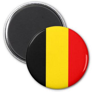 Naval Jack Of Belgium, Belgium flag 6 Cm Round Magnet