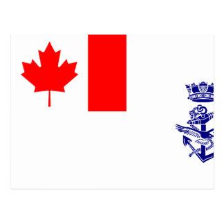 Naval Jack Of Canada flag Postcard