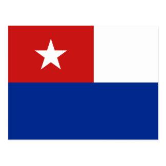 Naval Jack Of Cuba, Croatia flag Postcard