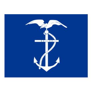 Naval Jack Of Ecuador East Timor flag Post Cards