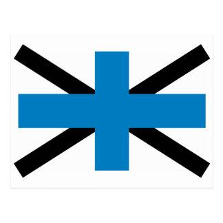 Naval Jack Of Estonia, Estonia flag Postcard