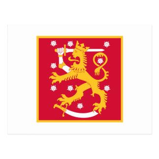 Naval Jack Of Finland, Finland flag Postcard