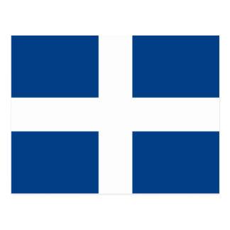 Naval Jack Of Greece, Greece flag Post Cards