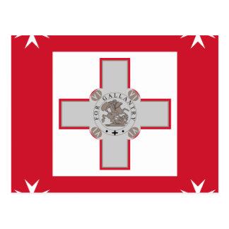 Naval Jack Of Malta, Maldives flag Post Card