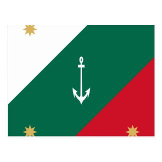 Naval Jack Of Mexico, Mexico flag Postcard