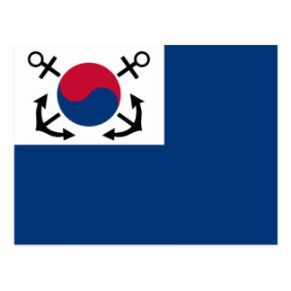 Naval Jack Of South Korea South Africa flag Post Card