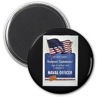 Naval Officer 6 Cm Round Magnet