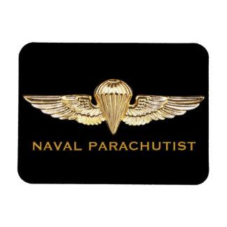 Naval Parachutist Rectangular Photo Magnet