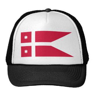 Naval Rank Denmark - Rear Admiral Denmark flag Trucker Hats