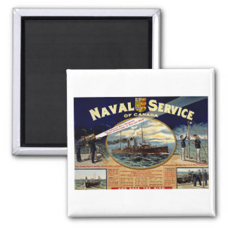 Naval Service of Canada Square Magnet
