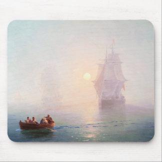 Naval Ship Ivan Aivazovsky seascape waterscape sea Mouse Pad