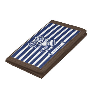 Naval style trifold wallet