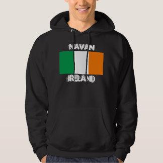 Navan, Ireland with Irish flag Hoodie