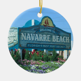 Navarre Beach Florida welcome sign Christmas Ornament