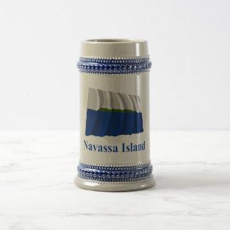 Navassa Island Waving Flag with Name Mug