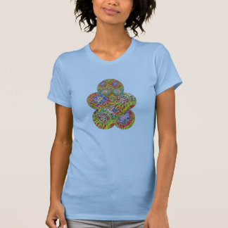 NAVEEN All Smiles: Abstract Flower Patterns T-Shirt