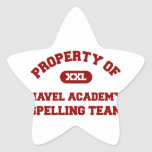 Navel Academy Spelling Team Red Star Stickers