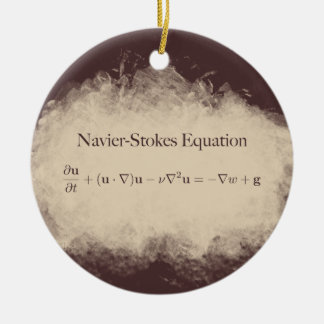 Navier Stokes Equation Math & Science Ornament