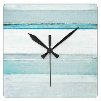'Navigate' Blue Abstract Art Wall Clocks