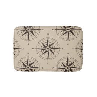 Navigation Compass Pattern Bath Mats