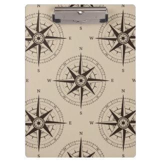 Navigation Compass Pattern Clipboard