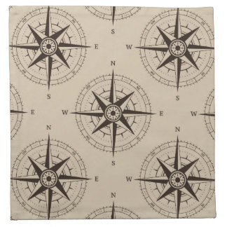 Navigation Compass Pattern Napkin