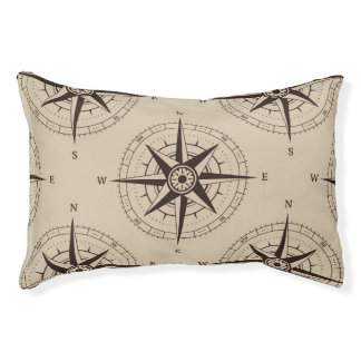 Navigation Compass Pattern Pet Bed