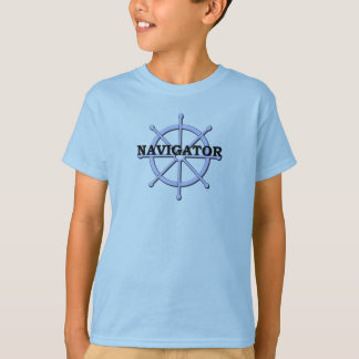 Navigator Ship Wheel Kids Blue T-shirt
