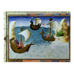 Navigators using an astrolabe postcard