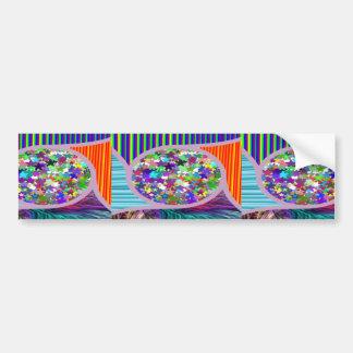 NAVINOgraph Colorful Star Dish Signature Art Bumper Stickers