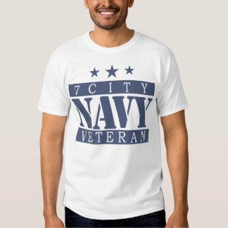 NAVY 7 City Shirt - Blue Logo