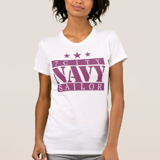 NAVY 7 City Shirt - Purple Logo