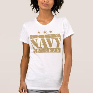 NAVY 7 City Shirt - Tan Logo