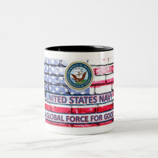 "Navy ""A Global Force for Good"" American Flag Cup"