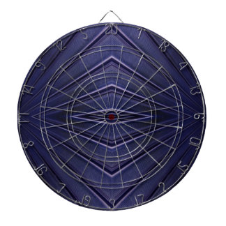 Navy Abstract Pattern Dartboard