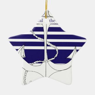 navy admiral of the fleet, tony fernandes ceramic star decoration