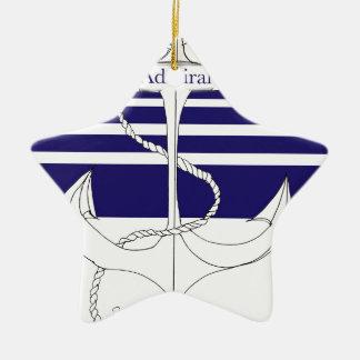 navy admiral, tony fernandes ceramic star decoration