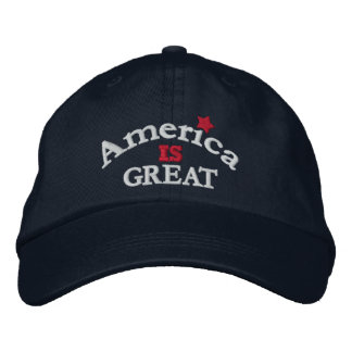 Navy America Is Great Adjustable Hat Embroidered Hat