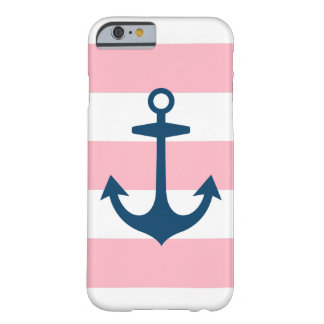 Navy Anchor and Stripes Pattern   iPhone 6 Case