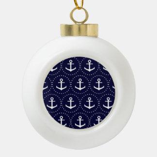 Navy anchor circle pattern ceramic ball decoration